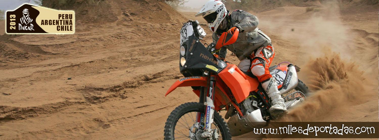 Portadas para Facebook - Dakar 2013 Moto marcado el terreno