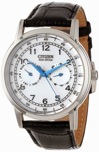 Citizen AO9000-06B Eco-Drive Leather Strap With Marine Blue Hands