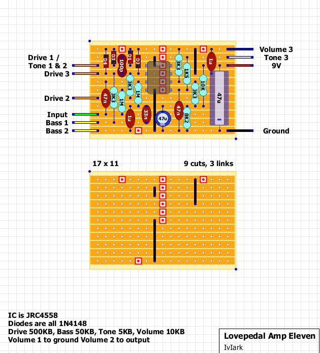 Guitar FX Layouts: pedal Amp Eleven on polaris wiring diagram, mercury wiring diagram, wii u wiring diagram, sierra wiring diagram, mutant wiring diagram, nighthawk wiring diagram, delta wiring diagram, phoenix wiring diagram, sony wiring diagram, morgan wiring diagram, sunspot wiring diagram, cable wiring diagram, thunderbird wiring diagram, melody maker wiring diagram, hunter wiring diagram, xbox one wiring diagram, vega wiring diagram, nitro wiring diagram, magneto wiring diagram,