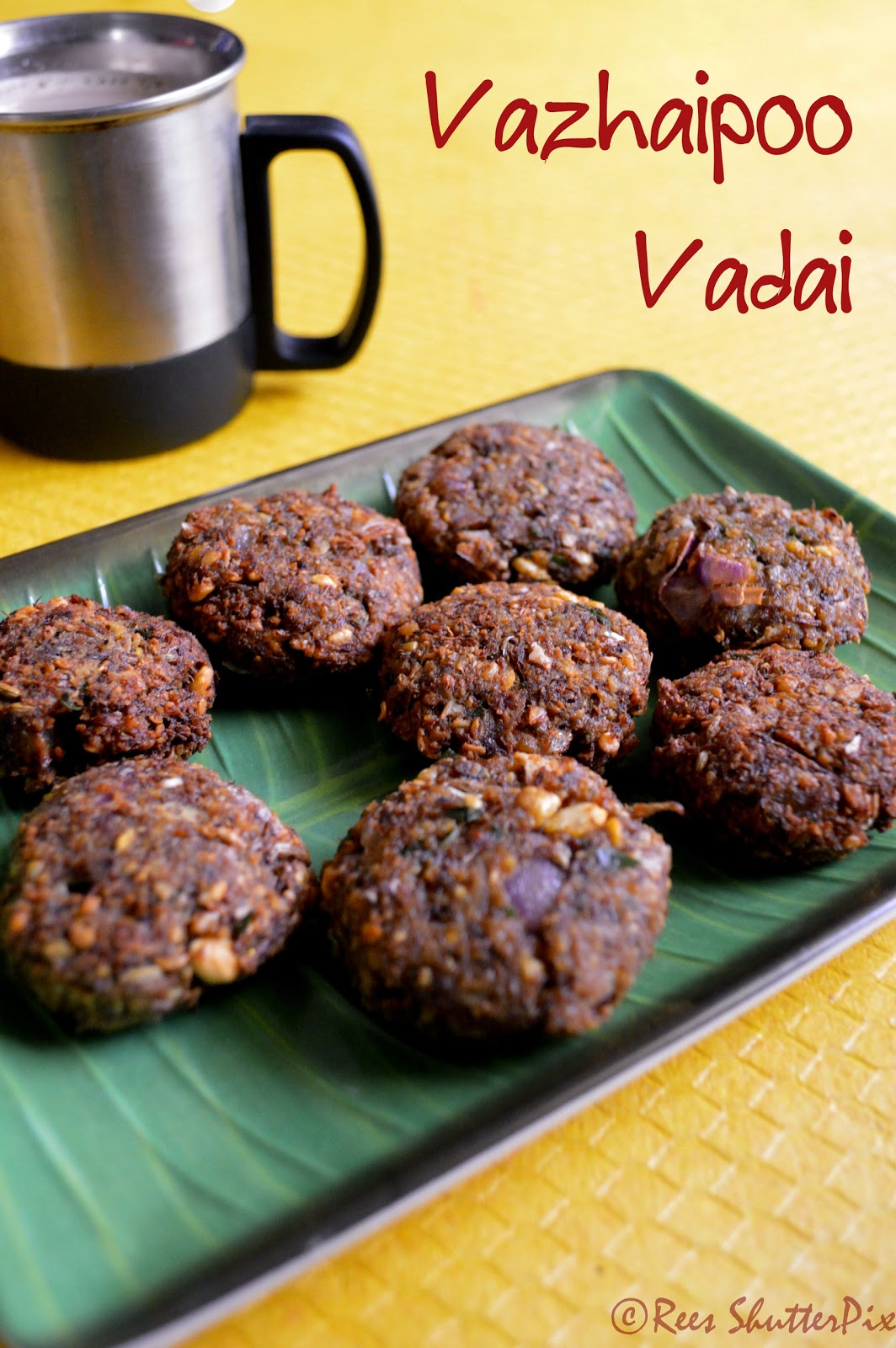 vazhaipoo vada recipe, easy vada recipe, Vada Recipes, step by step picture recipe, how to make vazhaipoo vada, easy vazhaipoo vada recipe,