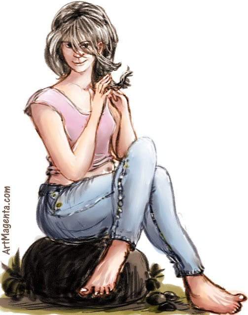 Jeans is a caricature by artist and illustrator Artmagenta