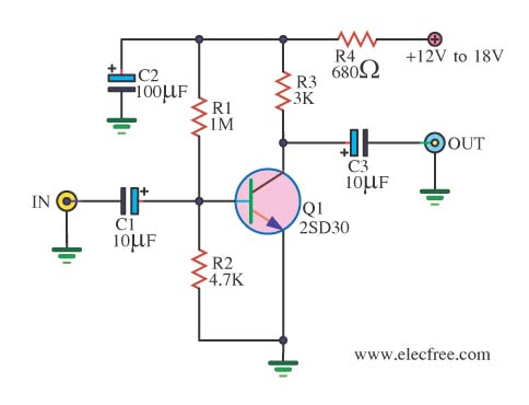 1tr preamp mic schematic easy to read wiring diagrams u2022 rh myschematicdiagram us Microphone Preamp Diagrams DIY Tube Preamp