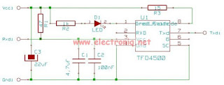Infrared Adapter Serial Transceiver Schematic
