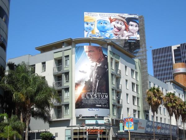 Elysium movie billboard