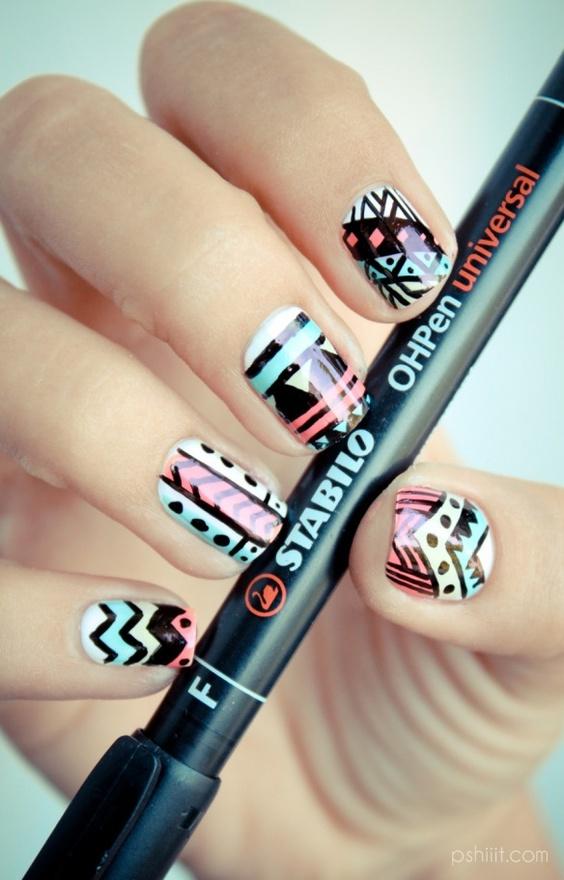 Tribal Nails Creative Nail Design