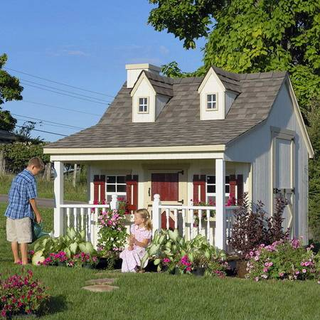 Little Cottage 11 x 8 Pennfield Cottage Wood Playhouse Design