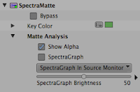 Show Alpha selected in the Avid SpectraMatte chroma key effect.