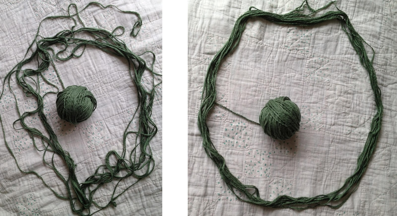 MAKING A BALL OF YARN FROM A HANK