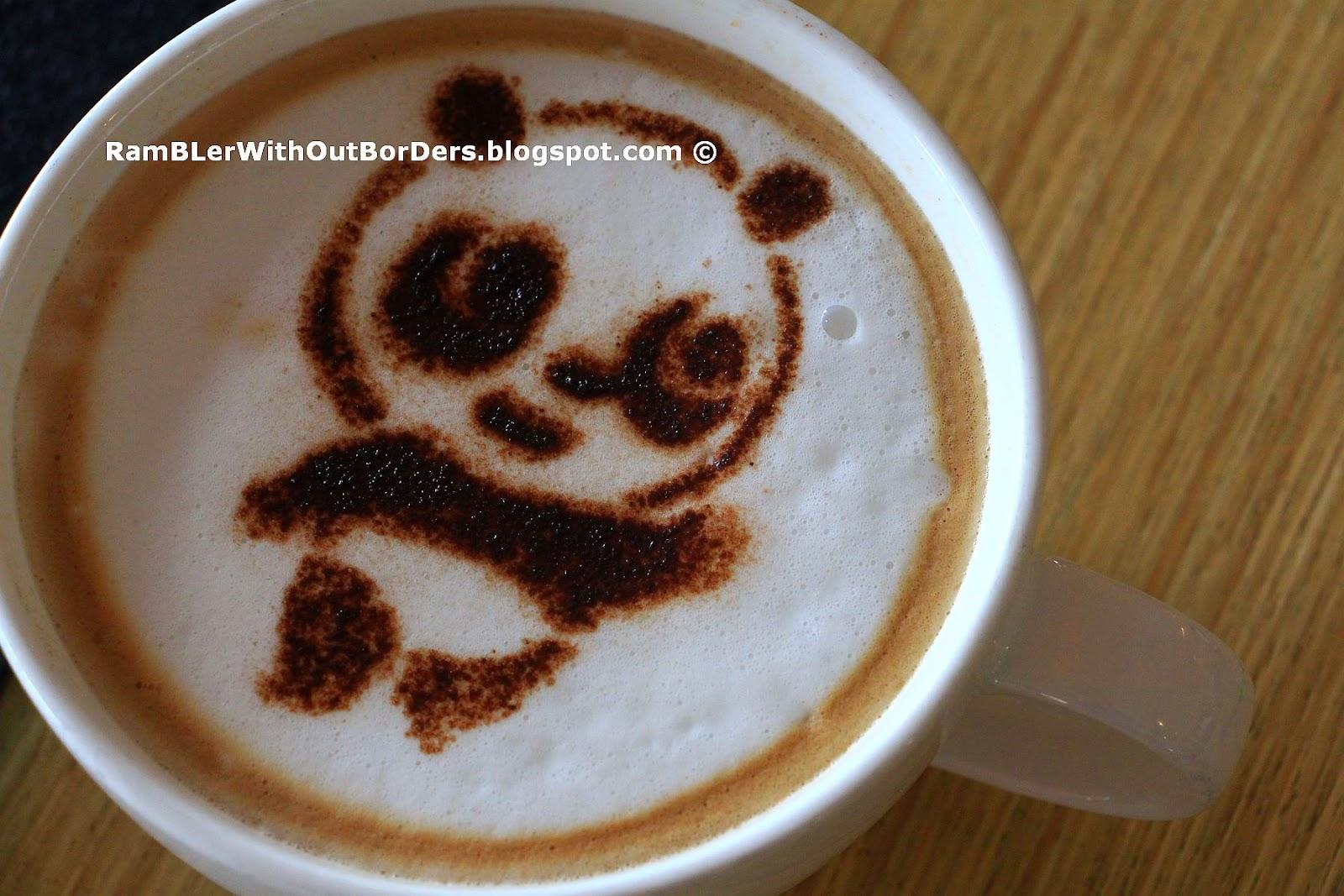 Cappuccino in Mama Panda Kitchen, River Safari, Singapore