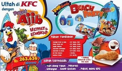 Paket Ultah KFC Birthday Ajib, Murah dan Berkesan,