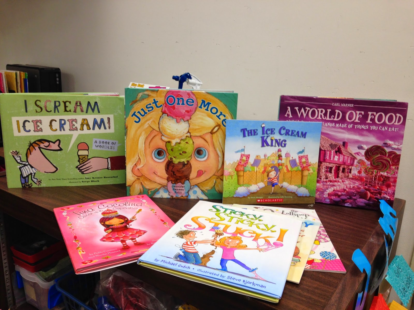 Ramona Recommends, picture books, candy theme, back to school
