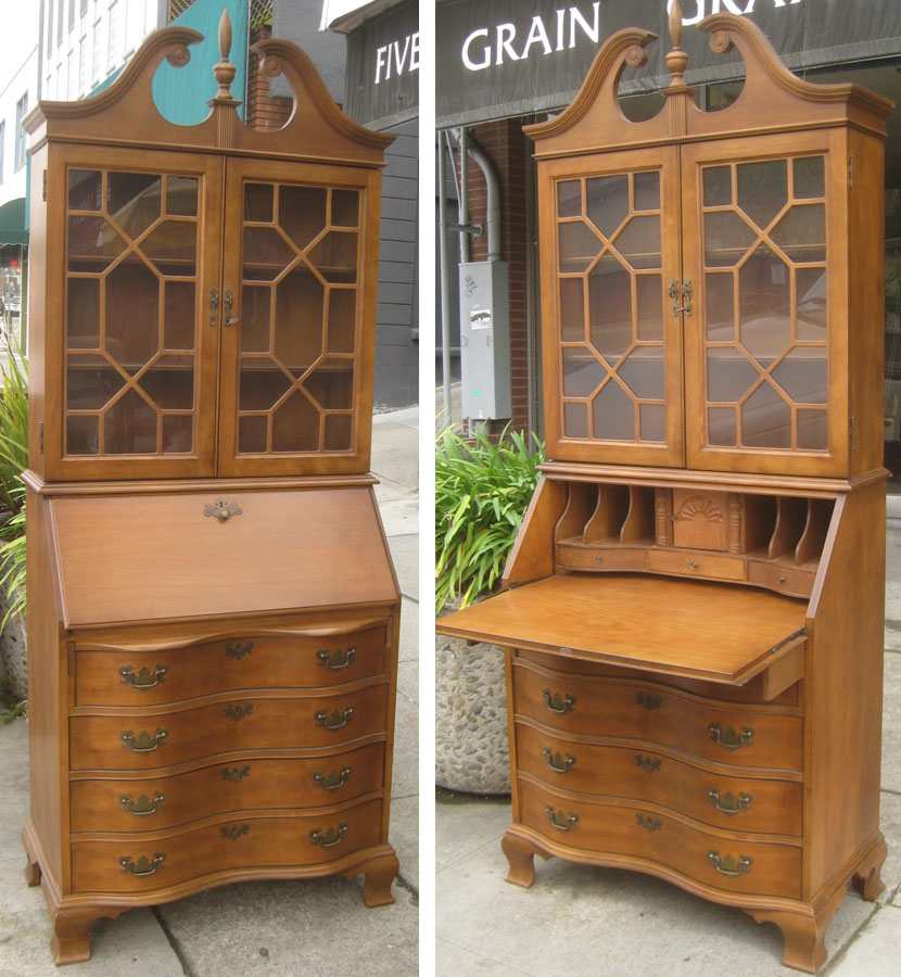 SOLD   Secretary Desk + Display Cabinet   $140. Posted By Uhuru Furniture U0026  Collectibles ...