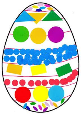 Oeuf de Pâques : stickers.