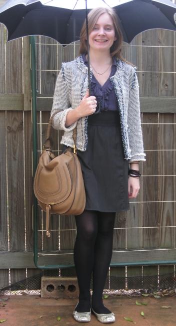 Away From Blue: Zara Jacket, Valleygirl Ruffle Detail Dress, Chloe ...