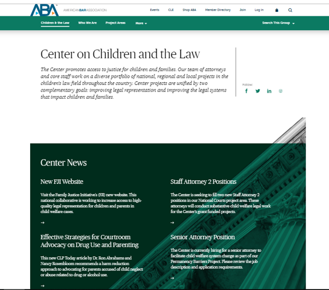 ABA Center on Children and the Law