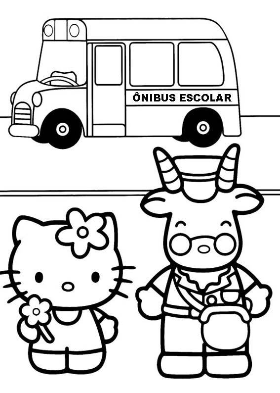 a desenhar Fofura Hello Kitty colorir