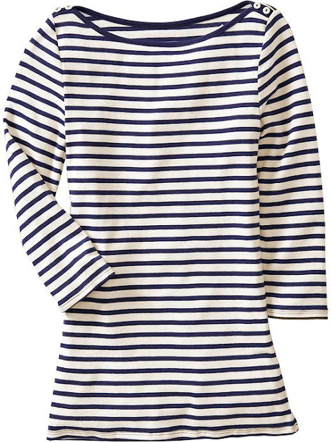 Angel court jewels get the look coco chanel 39 s french for Striped french sailor shirt