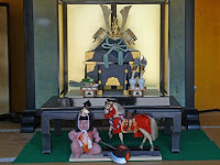 五月節句で武者人形が飾ってあった。