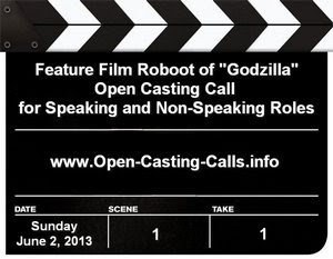 Godzilla Auditions and Open Casting Calls