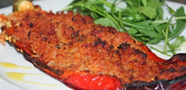 STUFFED SWEET RED PEPPERS - FORGET DIETING