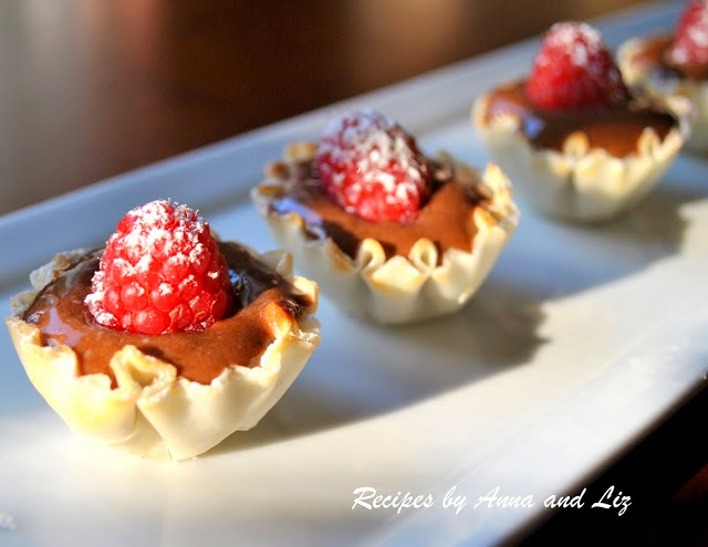 Chocolate Pudding and Raspberry Cups