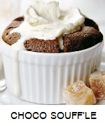 CHOCOLATE SOUFFL?S WITH BROWN SUGAR