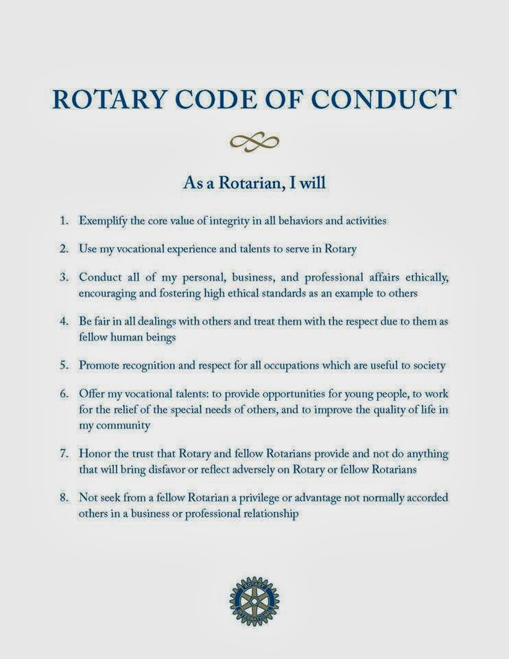 Rotary Club Of Briarcliff Manor Rotary Code Of Conduct