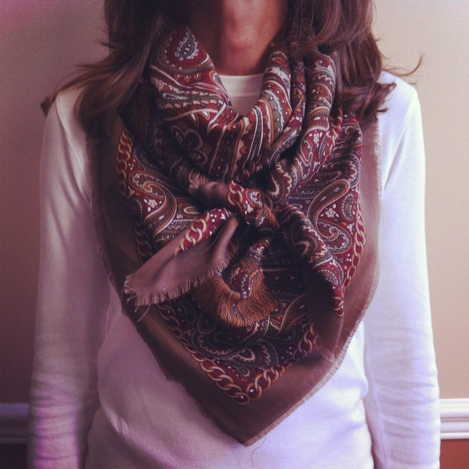 miss 7 ways to tie a scarf