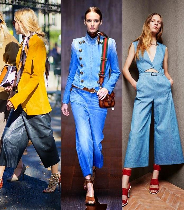 Culotttes ou calças ganga médias tendencia primavera-verão 2015