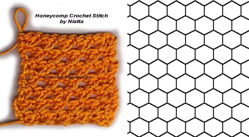 crochet: Honeycomb Crochet Stitch by Niatta