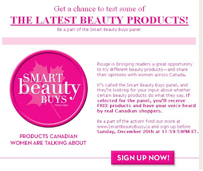 free beauty products Rouge Magazine tester