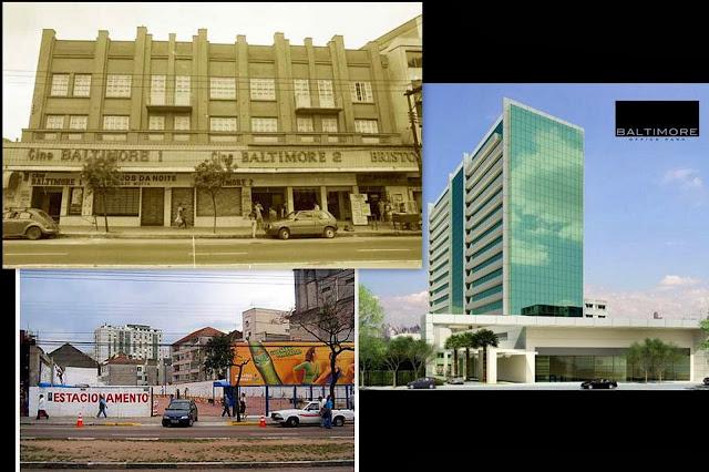 Antigo cinema Baltimore e o novo empreendimento que surge em seu lugar