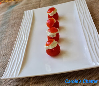 Cheese Stuffed Tomato Bite from Carole's Chatter