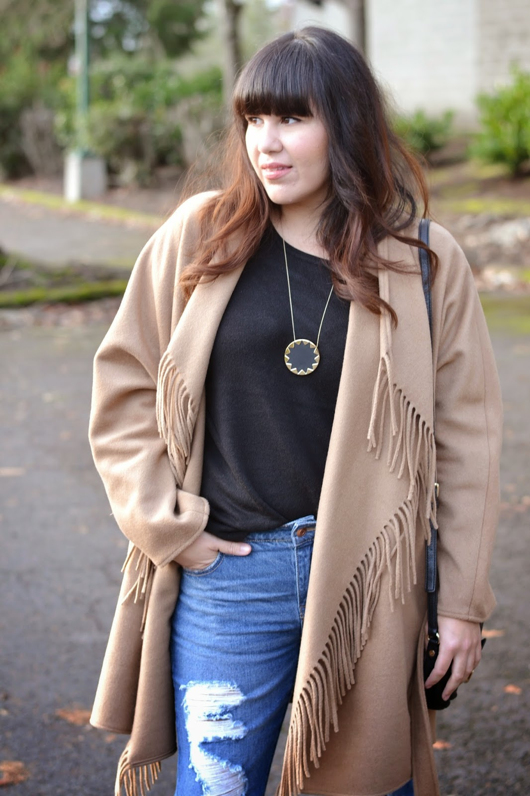 H&m Fringe Coat Style For The