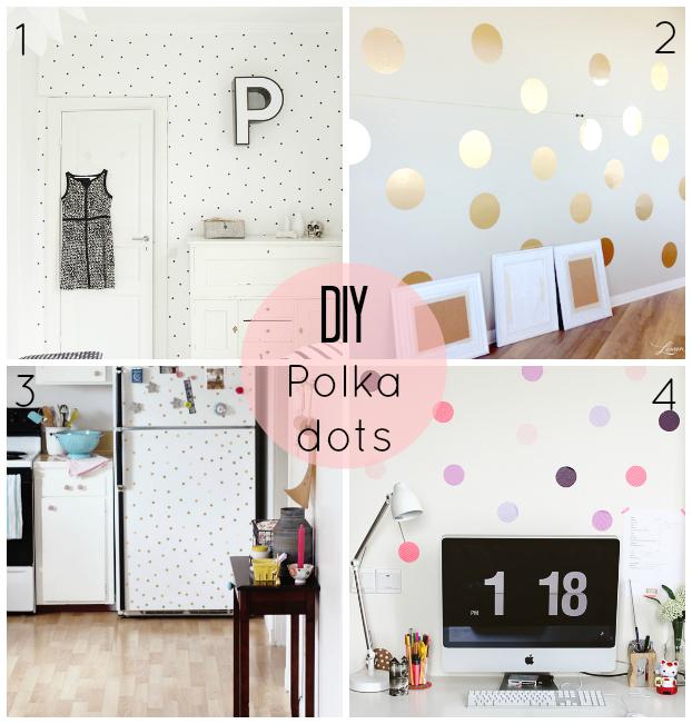 DIY polka dots