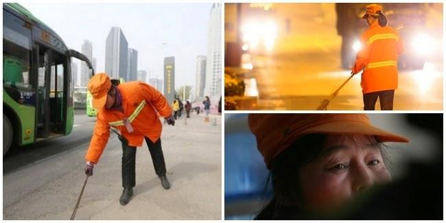 Yu Youzhen Miliarder Wanita, Penyapu Jalanan