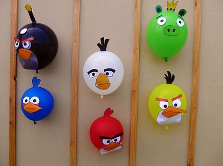 Globos de Angry Birds para Decoracion de Fiestas Infantiles, parte 1