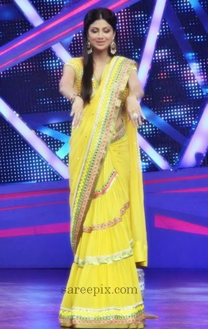 Shilpa-shetty-Surily-goel-saree-Nach-baliye-6-sets