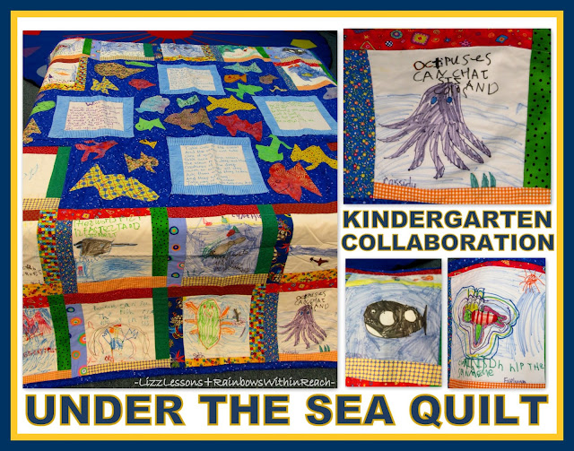 photo of: Kindergarten Under the Sea Quilt via RainbowsWithinReach Quilt RoundUP