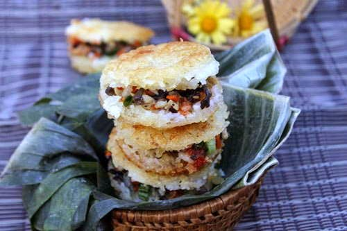 Vietnamese Rice Recipes - Xôi Chiện Nhân Thịt