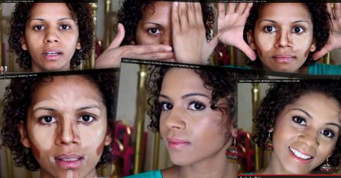 Prévia do vídeo que ensina a técnica de contouring e iluminação para a pele negra