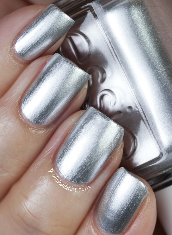 Essie Metallic Silver Nail Polish Images