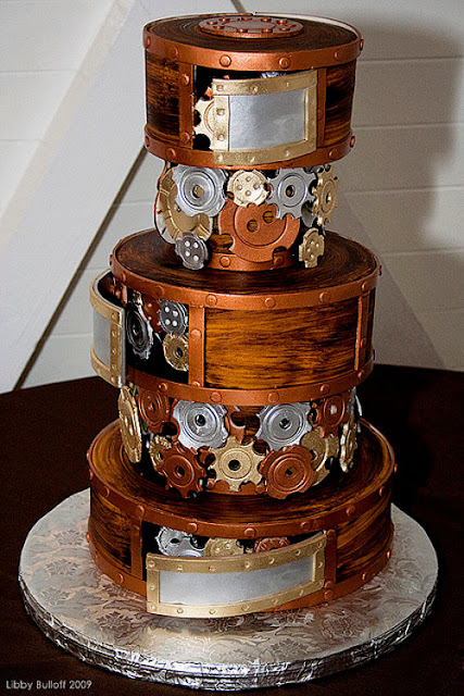 Unique Wedding Cake Ideas - Steampunk Wedding Cake