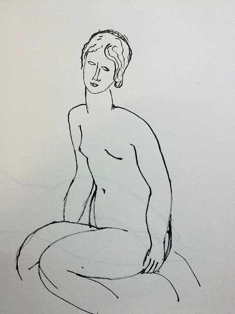 modigliani desnudo tinta china
