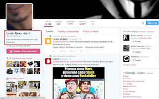 cuenta twitter gabriela rivadeneira hackeada
