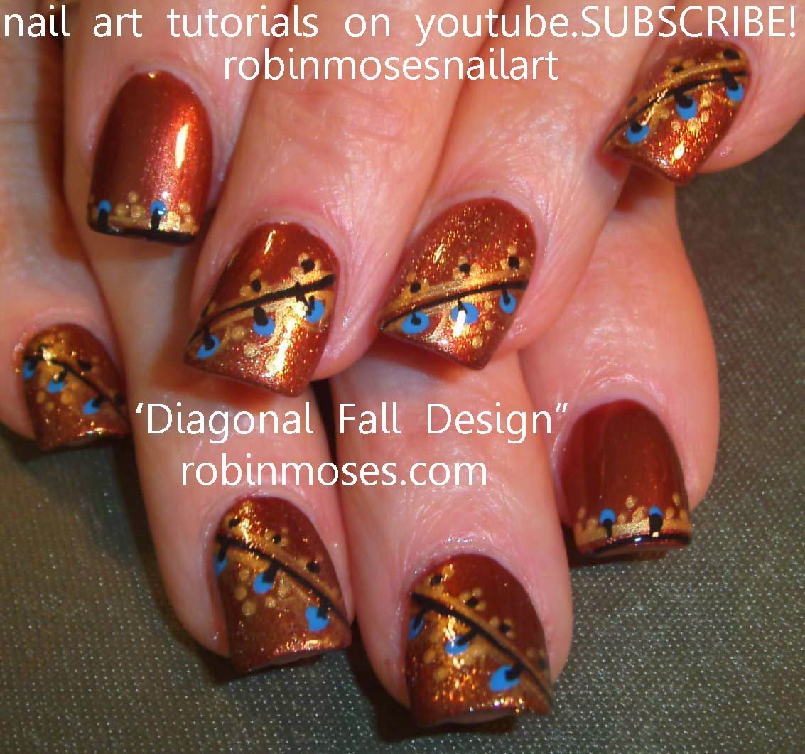 "Simple Fall Nail Designs: Robin Moses Nail Art: ""fall Nails"" ""easy Fall Nails"" ""easy"