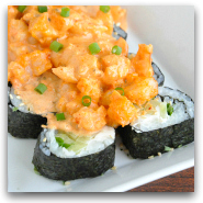 Homemade Sushi Volcano Roll