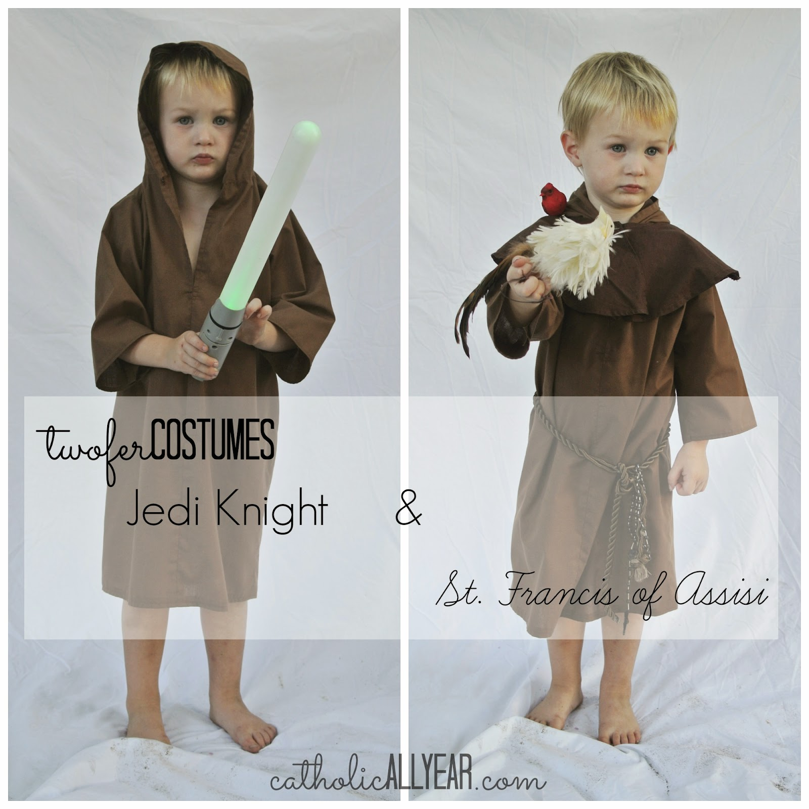 Catholic all year last minute twofer costumes for halloween and all a hooded jedi robe can solutioingenieria Choice Image