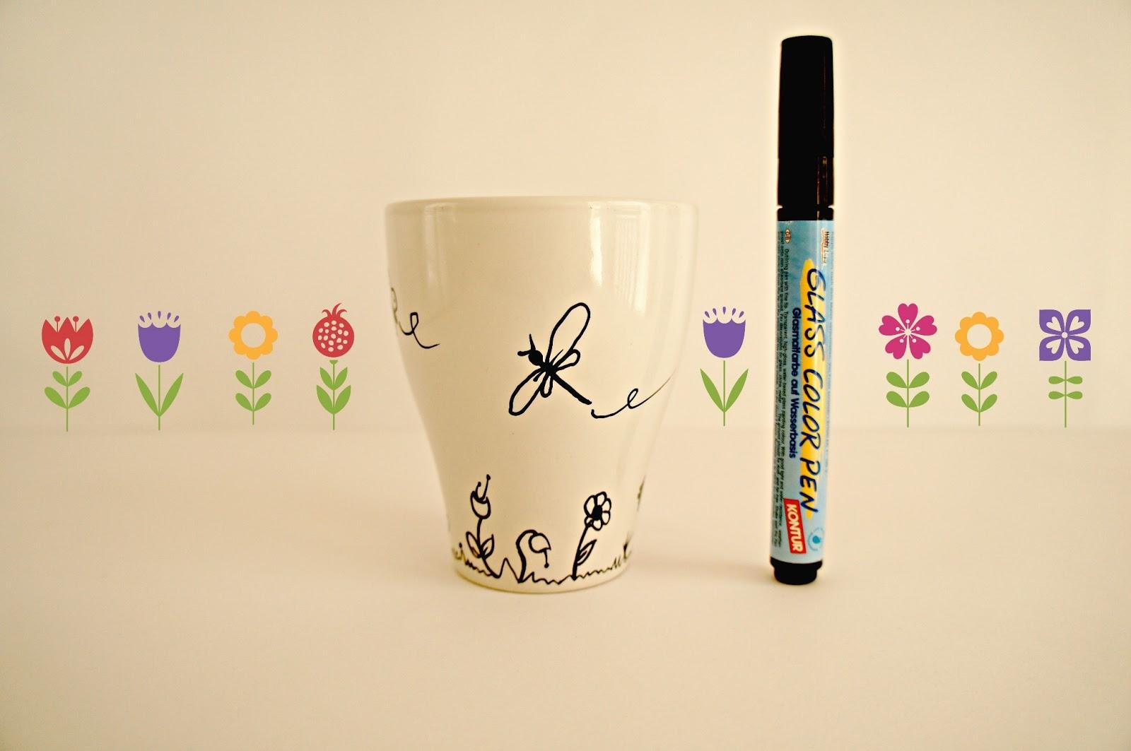 pinafili diy decorar tazas con pintura para cer mica