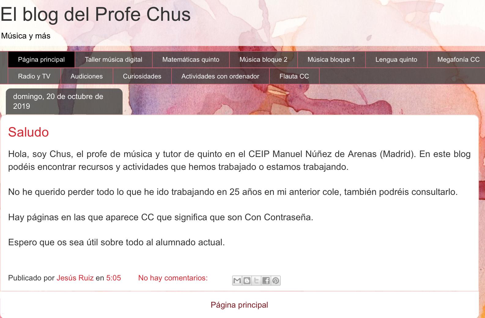 El blog del profe Chus